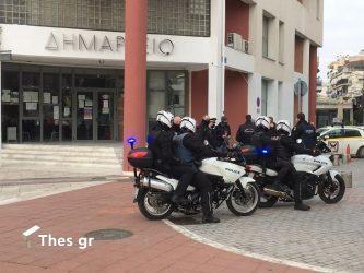 συγκέντρωση δημαρχείο Ευόσμου αστυνομία δήμος Κορδελιού - Ευόσμου