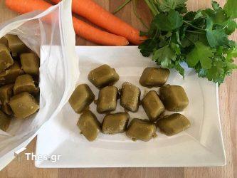 Σπιτικοί κύβοι λαχανικών γεμάτοι νοστιμιά και χωρίς συντηρητικά
