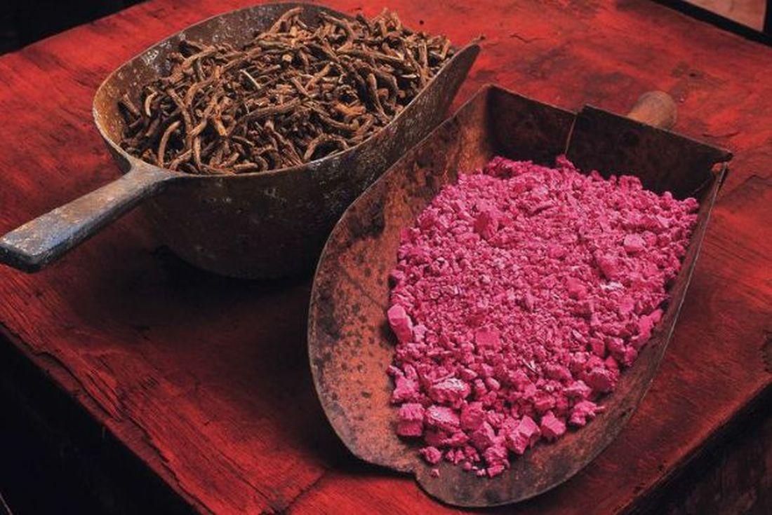 ριζάρι φυτό βότανο βαφή ρίζα