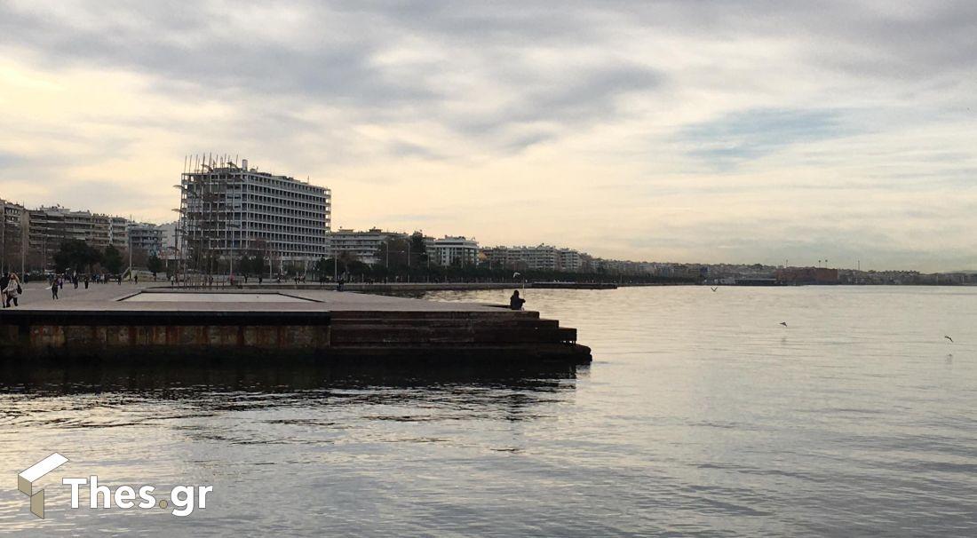 Θεσσαλονίκη παραλία κορονοϊός καιρός