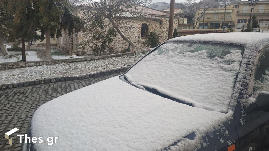 χιόνισε στον Σοχό καιρός