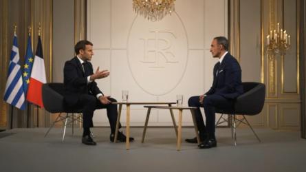 """Μακρόν στην ΕΡΤ: """"Θα κάνουμε τα πάντα για να στηρίξουμε την Ελλάδα"""""""