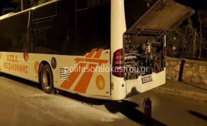 Θεσσαλονίκη: Φωτιά σε λεωφορείο με επιβάτες στο Ωραιόκαστρο (ΦΩΤΟ)