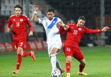 Μετριότατη εμφάνιση και τυχερός βαθμός για την Ελλάδα, 1-1 με την Γεωργία