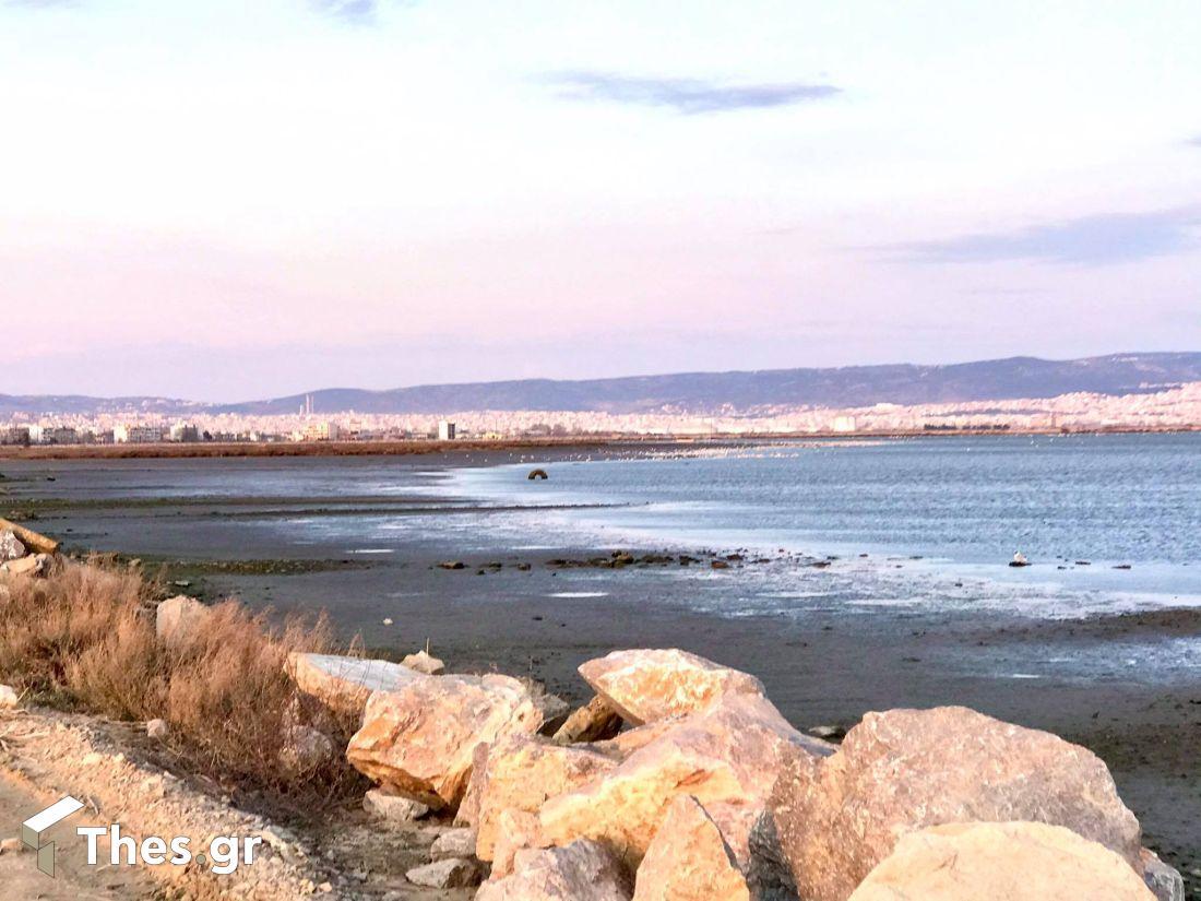 λιμνοθάλασσα Καλοχωρίου άμπωτη Θεσσαλονίκη