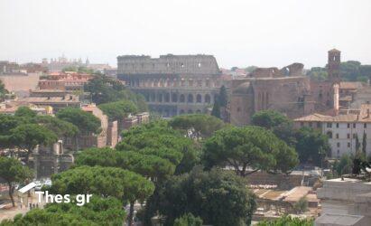 Ιταλία Ρώμη Κολοσσαίο κορονοϊός