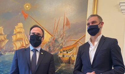 Συνάντηση Χαριστέα με το δήμαρχο Σερρών για τον ψηφιακό μετασχηματισμό του δήμου