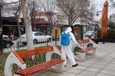 Συνεχίζονται οι απολυμάνσεις δημοσίου χώρου στο Κιλκίς