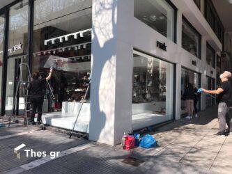 Θεσσαλονίκη: Σηκώνει ρολά το λιανεμπόριο – Προετοιμασίες από τους καταστηματάρχες (ΦΩΤΟ)