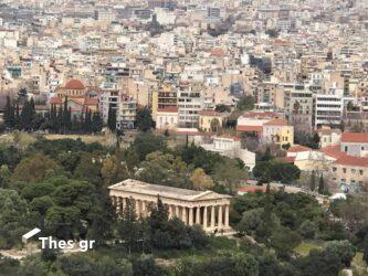 θέα από ψηλά στην Αθήνα