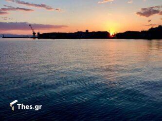 Θεσσαλονίκη λιμάνι ηλιοβασίλεμα