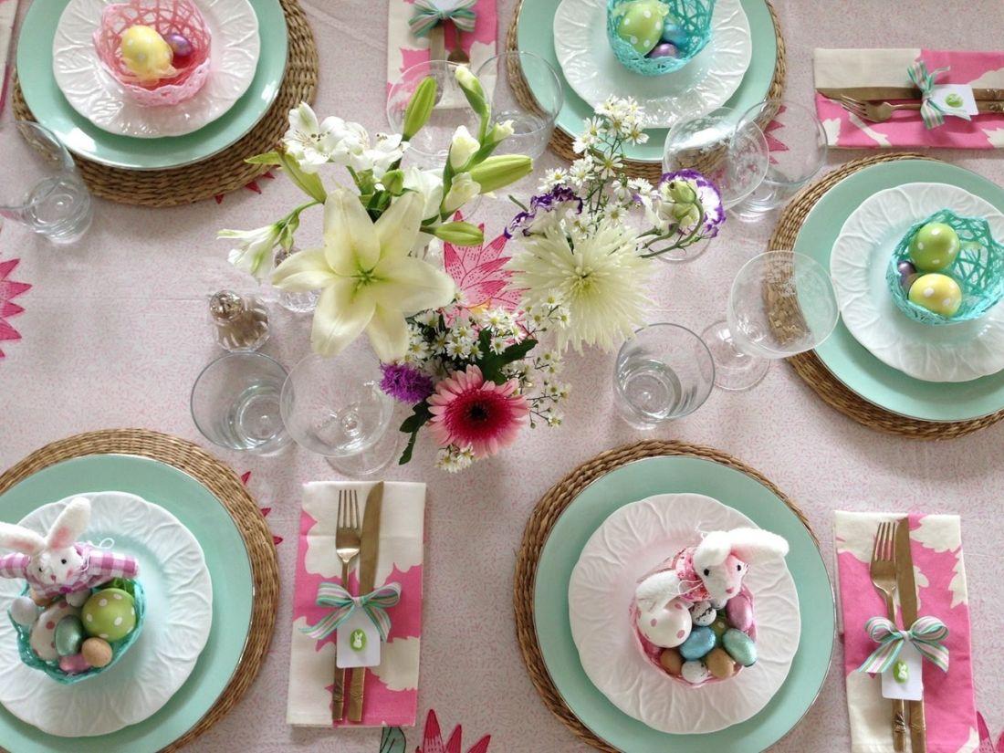 πασχαλινό τραπέζι στολισμός Πάσχα