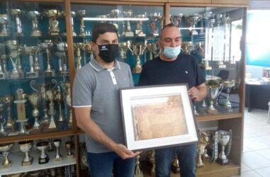 Στα γραφεία του ΓΣ Ηρακλής ο Λευτέρης Αυγενάκης
