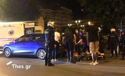 Θεσσαλονίκη: Τροχαίο με έναν τραυματία στην Καμάρα (ΦΩΤΟ)
