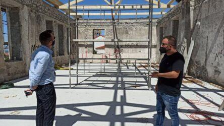 Συνεχίζονται οι εργασίες αποκατάστασης του Πνευματικού  Κέντρου στη Νεοχωρούδα