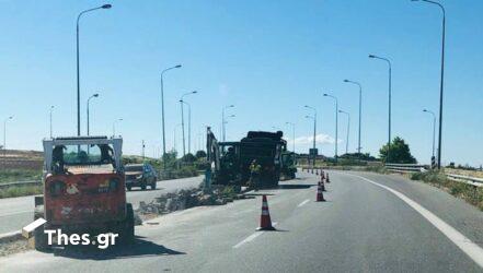 Εργασίες κοπής πρασίνου στην Εθνική Οδό Θεσσαλονίκης – Νέων Μουδανίων