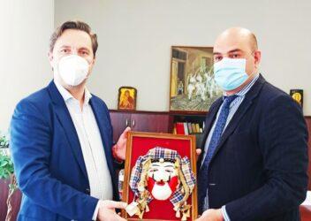 Με τον Γενικό Πρόξενο της Γεωργίας συναντήθηκε ο δήμαρχος Νάουσας
