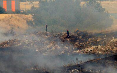 Θεσσαλονίκη: Φωτιά πολύ κοντά στο Διαβαλκανικό