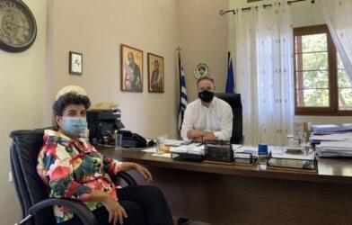 Συνάντηση Μάλαμα με το δήμαρχο Αριστοτέλη και συζήτηση για τα θέματα του δήμου