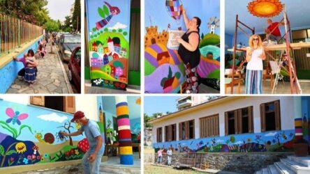 Καβάλα: Τοίχος σε παιδικό σταθμό λέει το δικό του παραμύθι