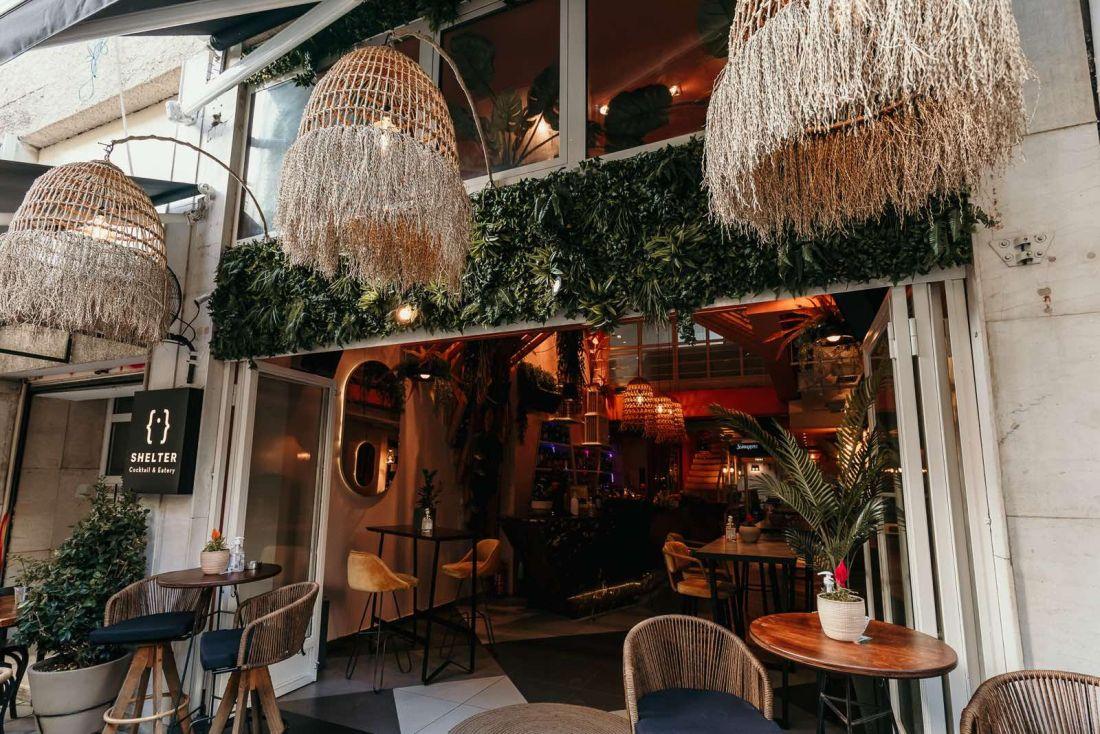 Shelter cafe bar Αγίου Μηνά Πλατεία Εμπορίου Θεσσαλονίκη