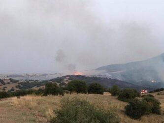 Συνεχίζει να καίει η φωτιά στο Κιλκίς