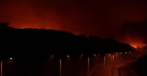 Φωτιά στην Αττική: Οι φλόγες πέρασαν την Εθνική Οδό (ΒΙΝΤΕΟ)