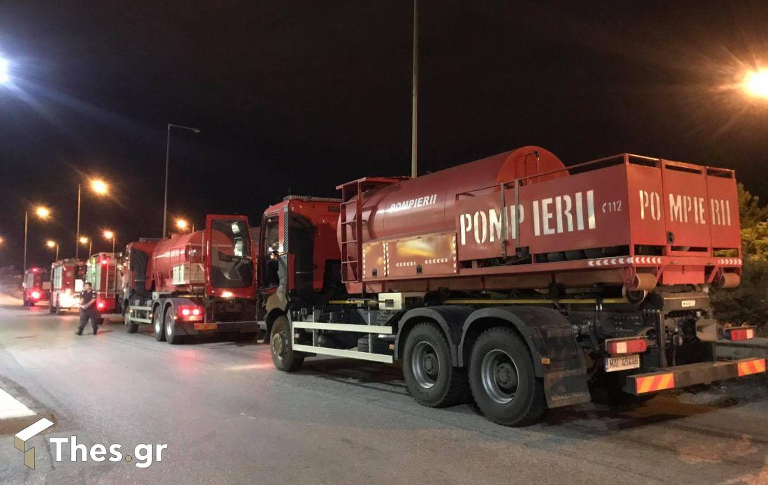 Thes | Φωτιά τώρα: Στην Ελλάδα οι Ρουμάνοι πυροσβέστες με τα 23 οχήματα ( ΒΙΝΤΕΟ & ΦΩΤΟ)