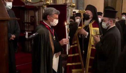 Αρχων Οφφικιάλος χειροθετήθηκε ο Σωτήρης Τσιόδρας στο Φανάρι (ΒΙΝΤΕΟ)