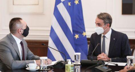 Με τον υπουργό Εσωτερικών της Σερβίας συναντήθηκε ο πρωθυπουργός