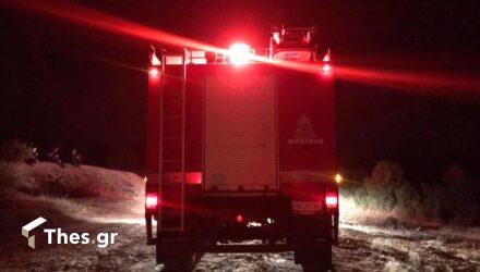 Φωτιά τα ξημερώματα στην Κατερίνη – Στάχτη 40 τόνοι ρίγανης