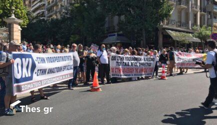 Θεσσαλονίκη: Πορεία υγειονομικών για τις αναστολές (ΦΩΤΟ)
