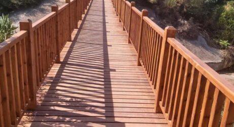 Αποκαταστάθηκε η πεζογέφυρα στο Φράγμα της Θέρμης