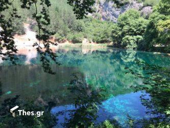 Η γαλάζια λίμνη Βηρού στα Ιωάννινα
