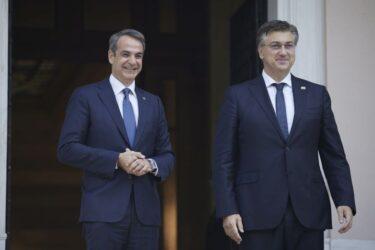 Κυριάκος Μητσοτάκης: Συνάντηση με τον Πρωθυπουργό της Κροατίας, Αντρεί Πλένκοβιτς