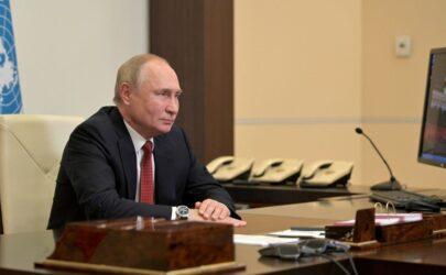 """Κορονοϊός – Πούτιν: """"Η Ρωσία πρέπει να εντείνει τους ρυθμούς εμβολιασμού"""""""