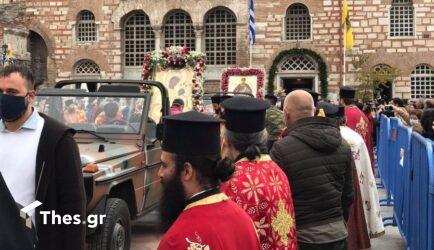 Θεσσαλονίκη: Με κατάνυξη η Λιτανεία εικόνων και του λειψάνου του Αγίου Δημητρίου (ΦΩΤΟ)