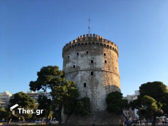 Η έπαρση της σημαίας στον Λευκό Πύργο στην εορτάζουσα Θεσσαλονίκη (ΒΙΝΤΕΟ & ΦΩΤΟ)