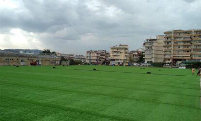 Νέος χλοοτάπητας στο δημοτικό γήπεδο ποδοσφαίρου Ανω Ηλιούπολης