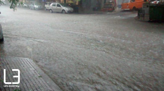 Εντονη καταιγίδα σε Δράμα, Καβάλα, Σέρρες (ΒΙΝΤΕΟ)